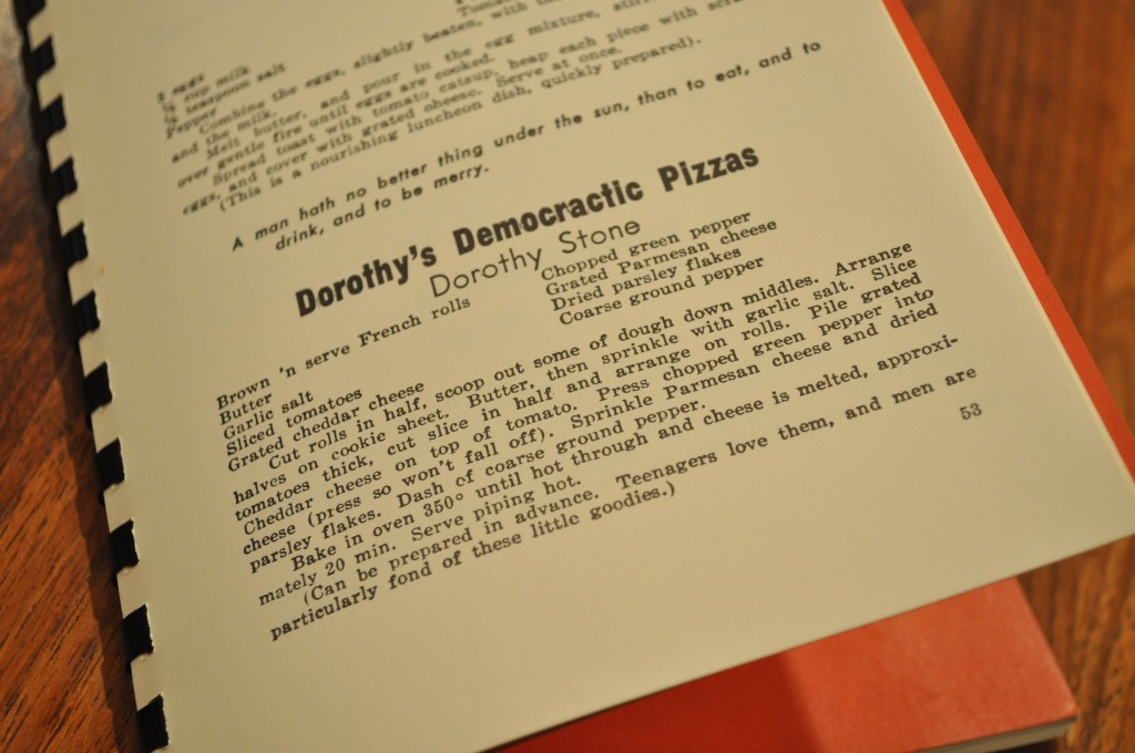Dorothy's Democratic Pizzas - The Recipe