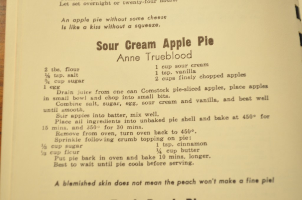 Sour Cream Apple Pie - The Recipe
