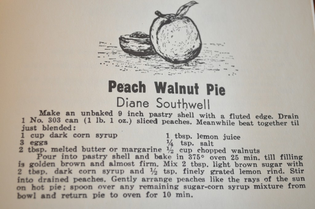 Peach Walnut Pie - The Recipe